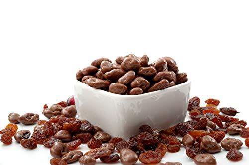 Uvetta Ricoperta Di Cioccolato Fine Al Latte [1kg]. Uvetta Al Cioccolato Squisita E Di Prima Qualità, Frutta Secca Coperta Da Cioccolata Con Sacchetto Salvafreschezza, Uva Di Grosso Calibro - Dorimed