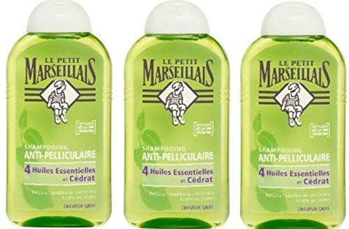 Le Petit Marseillais Shampoo gegen Schuppen und Haare, 4 ätherische Öle, 250 ml, 3 Stück