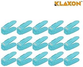 Klaxon Shoe Organizer - Plastic Shoe Organizer - 15 Piece Shoe Organsier/Shoe Shelf/Shoe Rack/Shoe Stand for Home - Blue