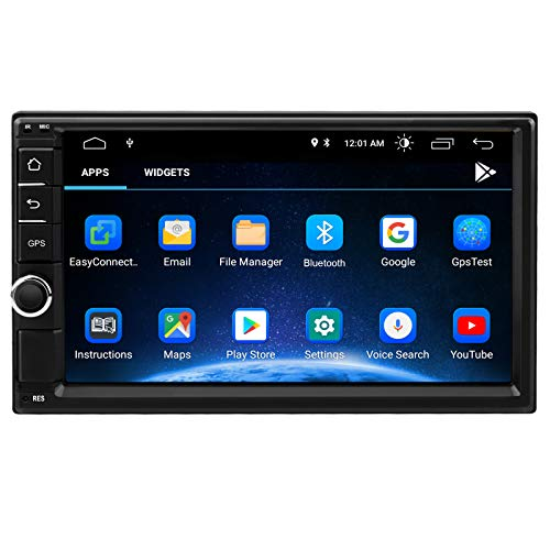 Android 10 Car Stereo,7 Inch Double Din Car Multimedia Radio Touch Screen Player,Car Audio Navigation Radio Receiver,Support WIF,Bluetooth,Dual USB,Mirror Link,Backup Camera (2G RAM+32G ROM)