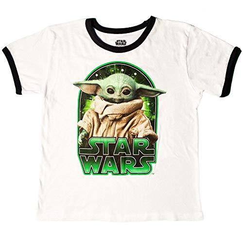 Star Wars The Mandalorian The Child Character Ringer - Camiseta para niños - marfil - Large