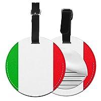 ネームタグ バッグ用ネームタグ イタリア旗, ネームプレート スーツケース 紛失防止 旅行 出張 対応用 荷物タグ