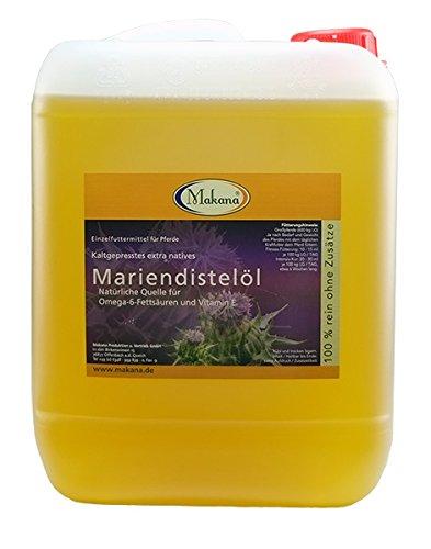 Makana Mariendistelöl für Tiere, kaltgepresst, 100% rein, 5000 ml Kanister (1 x 5 l)