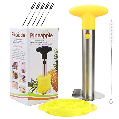 Pineapple slicer Corer Upgraded 304 Stainless Steel Pineapple Cutter pineapple corer slicer tool for home and kitchen Pineapple Corer