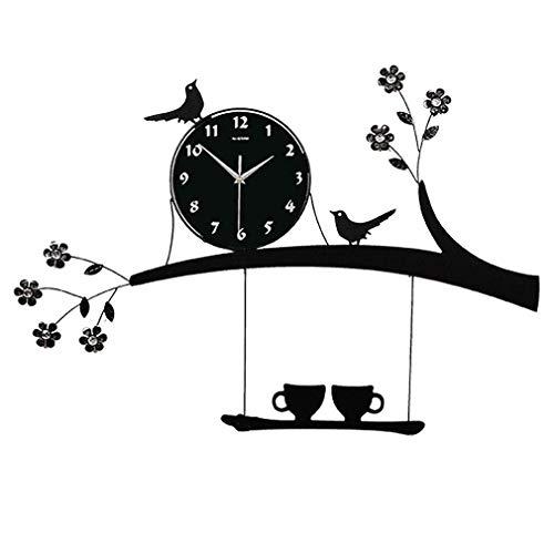 Creatieve Persoonlijkheid Woonkamer Wandklok Mode Tuin Klok Ikea Mute Thuis Kwarts Klok Vogel Klok