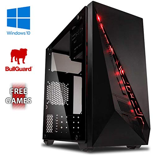 Vibox VBX-PC-00441 Submission 6W Gaming Desktop-PC (AMD A Series A8-7600, 8GB RAM, 1TB HDD, AMD Radeon R7, Win 10 Home) groen