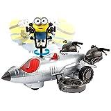 Minions figura minion y vehículo sorpresa, coche de juguete (Mattel GMF19)
