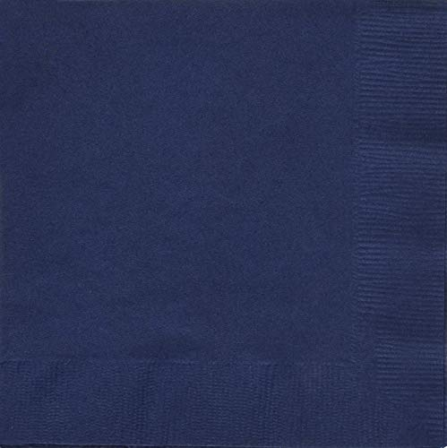 Sale!! Creative Converting 571137B Navy Beverage Napkin, 3 Ply, Solid (10pks Case)