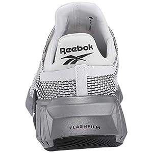 Reebok Men's FLASHFILM Train Cross Trainer, White/Black/Silver Metallic, 11 M US