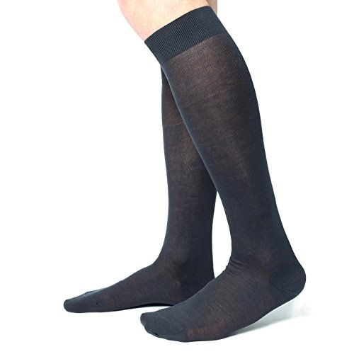 Ciocca Calze uomo lunghe, pregiato cotone 100% FILO SCOZIA - 6 Paia - tre taglie calze