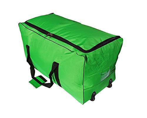 Reisetasche Sporttaschen großer Wagen 140 Liter mit Rollen. Größe XXL (Grün)