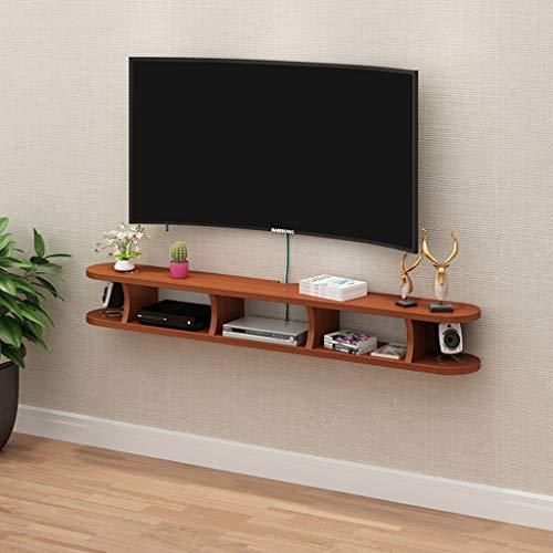 Kleine elektronische opslag Rack Wall Mounted TV kabinet Floating TV Stand met meerdere onafhankelijke Storage Units Entertainment Media Console kabinet Home Meubelen