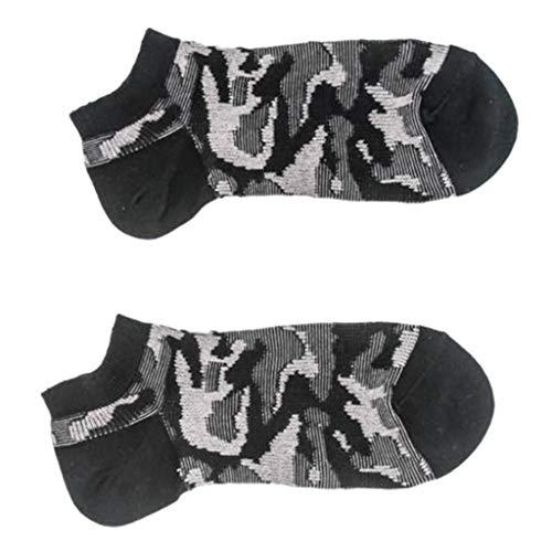 HEATLE Socken für Jungen, Mode Frauen Casual Man Vintage Baumwolle Socken Camouflage Print Kurze Süße Geschenk Socke Socken(Schwarz,1Paar)