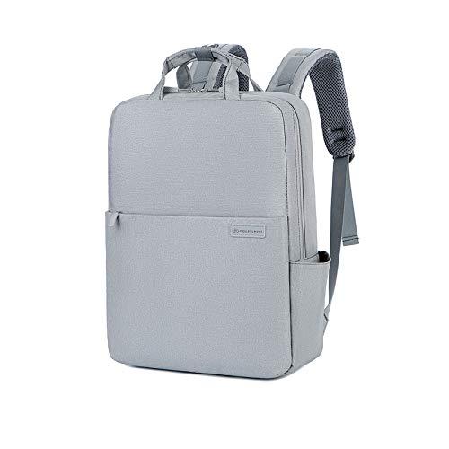 FANDARE Zaino PC Portatili Unisex Business Zaino con Caricatore USB Zaini Scuola Viaggio Lavoro Backpack per 15.6 inch Laptop Impermeabile Poliestere Grigio