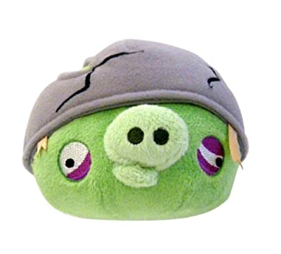 """Angry Birds Commonwealth Toy 16"""" Plush Helmet Pig with Sound"""