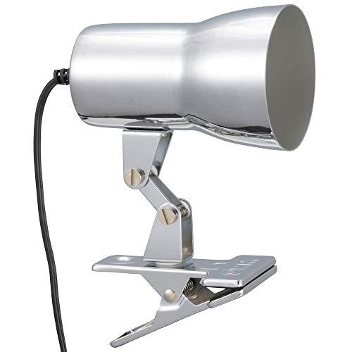 オーム電機 LEDクリップライト(E17・電球別売/シルバー) LTC-N117AW-S クリップ約80mm、アーム約69mm、セード約外径66mm×長さ102mm