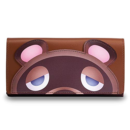 PALPOW Superdünne Tasche for Nintendo Switch, Handliche Kunstledertasche mit Aufbewahrung for Game Cards (Brown)