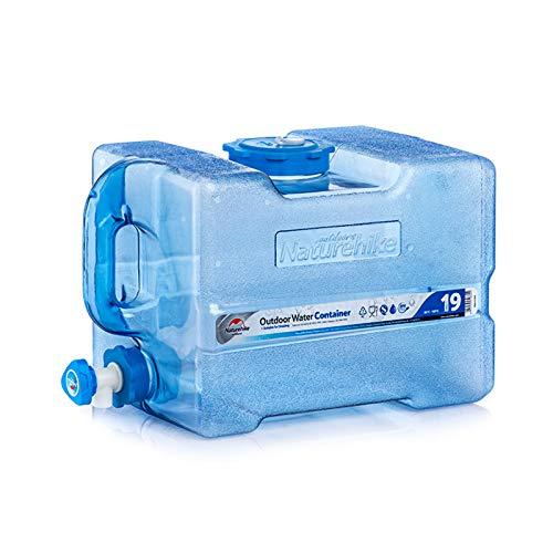 Bidón de Agua alimentario para Camping de con Grifo, depósito de Agua para vehículo para Coche, Camping, Catering, Mesa de café-19L
