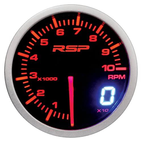 SUMEX MID737661 Tacómetro Race Sport Perfomance 52mm de diámetro. Cuentarrevoluciones con iluminación led Blanca/roja-Ambar Modo día/Noche. Indicación con Aguja analógica y con Display Digital