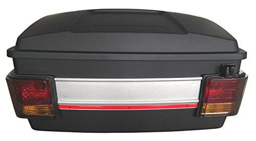 Baul rigido para Moto Custom de 70 litros de Capacidad. Color Negro Mate. Capacidad para Dos Cascos.