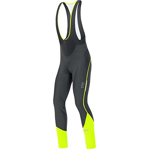 Gore Bike Wear Oxygen Windstopper Soft Shell Trägerhose mit Träger für Radsport M Mehrfarbig (Schwarz/Neon-Gelb)