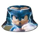 VJSDIUD Sonic el seto Hog Sombrero de Pescador con protección UV Impresa en 3D para Hombres y Mujeres