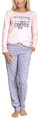 Merry Style Pijamas Conjunto Camisetas Mangas Largas y Pantalones Largos Ropa de Dormir de Cama Lencería Mujer 1003