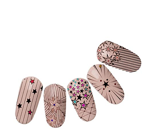 Stripe Stars Nail Templates DIY Ongles Plaques Femmes Art Line Making Peinture Nails Stamping Templates