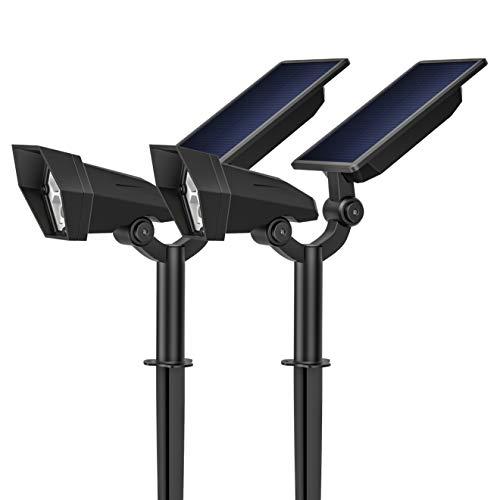 KOOPER Garten Solarleuchten (2 Pack), 2600mAh Soalr Gartenleuchte mit Super Lange Arbeitzeit, IP65 Blendfrei Solarlampen für Außen mit 3 Helligkeitsstufe, LED Gartenbeleuchtung für Bäume, Gartenweg