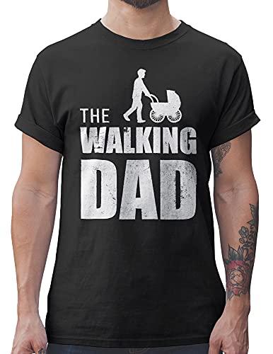 Shirtracer The Walking Dad Herren T-Shirt und Männer Tshirt (L, Schwarz)