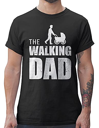 Shirtracer Camisetas Hombre The Walking Dad Regalo de cumpleaños para el Padre (Negro, L)