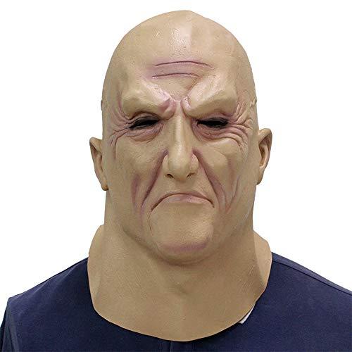 Decdeal Maschera in Lattice Orrore Testa Piena - Boss degli Inferi,Divertente Cosplay Maschera per Feste Maschera per Casco da Uomo Vecchio