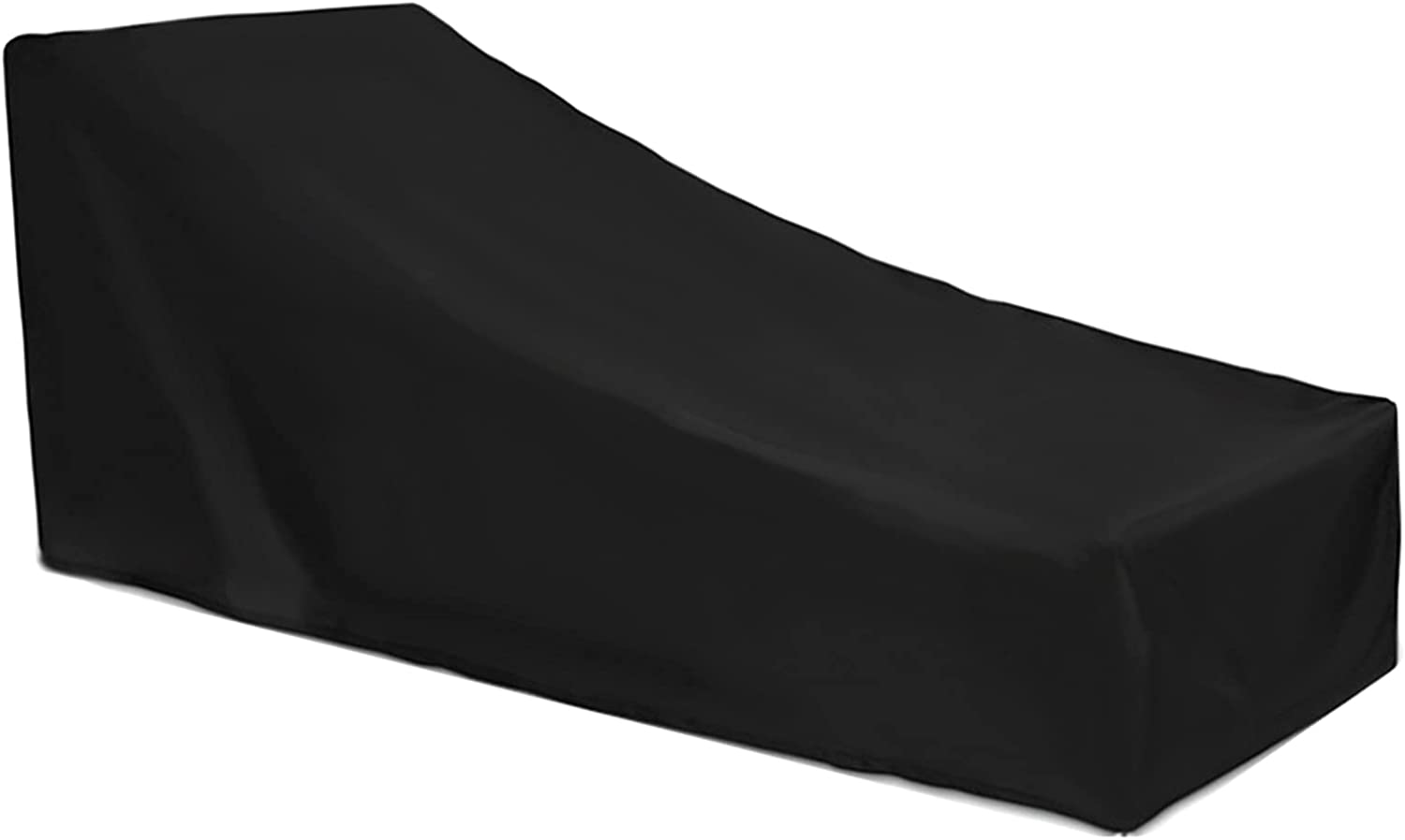 Dolity Black Chaise trend rank Lounge Chair Cover Sunlounger Opening large release sale L