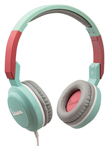 Vespa Cuffie On-Ear pieghevoli con Microfono incorporato I Gaming Headset per Smartphone, PC, PS4 e Xbox - Acquamarina, Tribe HPW13401