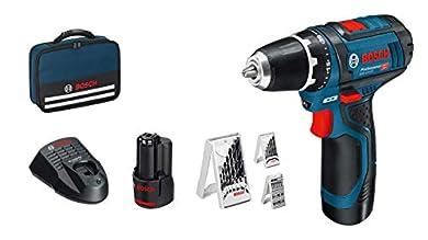 Foto di Bosch Professional 0615990GB0 Avvitatore GSR 12V-15 System, 2 Batterie da 2.0 Ah, Set di Accessori da 39 Pezzi, Ø Viti Max.: 7 mm, in Borsa, 12 W, 10.8 V, Blu, 3/8_pollice