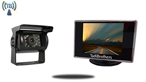 TadiBrothers 4.3 Inch Monitor and 120 Degree Wireless Mounted RV Camera (RV Backup System)