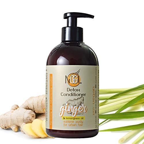 NGGL Après-shampooing détoxifiant et purifiant vegan, enrichi en extrait de gingembre et huile de citronnelle, 500 ml