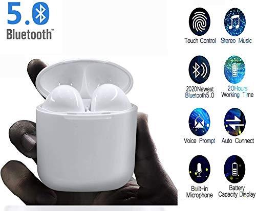 Écouteurs sans Fil Bluetooth 5.0 avec réduction de Bruit, Couplage Automatique, IPX7 écouteurs Sportifs stéréo étanches Intégré HD Mic Casques, Compatible avec iOS Android Samsung