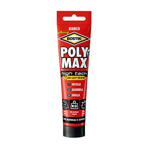 BOSTIK Poly Max High Tack Express colla di montaggio e sigillante universale super forte, tenuta istantanea tubo 165g bianco