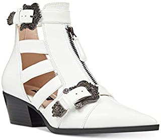 NINE WEST Womens Carrillo Pointed Toe Ankle Fashion Boots, White, Size 10.0