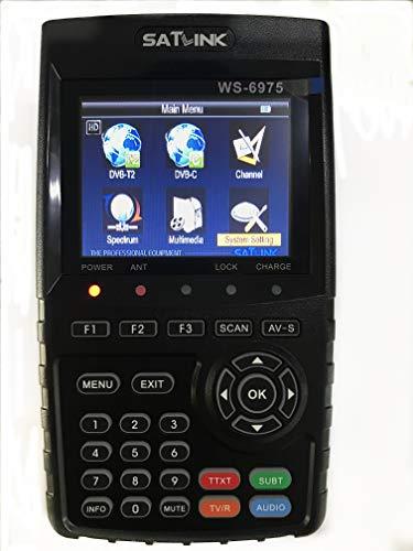 SATLINK WS-6975 DVB-T2 Digital Terrestrial Meter Finder Receiver mit MPEG-2/MPEG4 H.265 unterstützt QPSK,16QAM,64QAM,256QAM