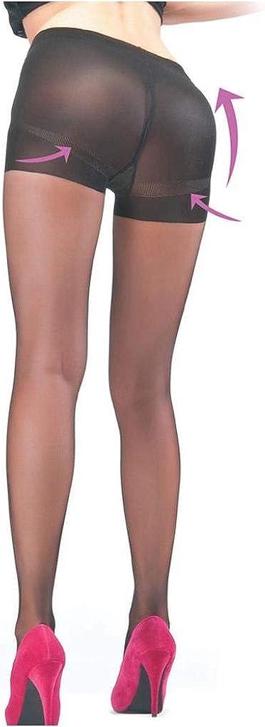 Women's 20 Denier Push-Up Shaping Pantyhose Tan Color (Large)