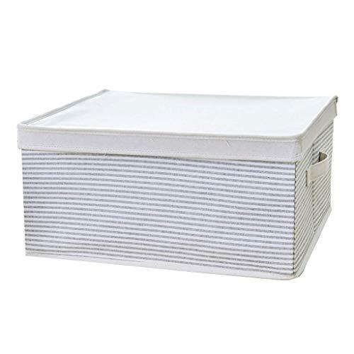 YLKCU Storage Box Thick Cotton And Linen Folding Storage Box Storage Box With Lid Toy Storage Box Durable Gray (Size : 35x23x21cm)