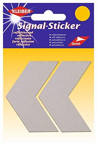 Kleiber Chevrons Stickers réflecteurs, Argent