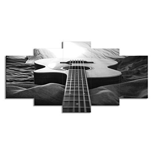 Muziekinstrument Gitaar, Set van 5 Schilderijen, Hd Printing, Muur Kunstschilderijen, Moderne schilderijen, Home Decoration Painting, Canvas Printing 4X6/8/10Inch Zonder frame
