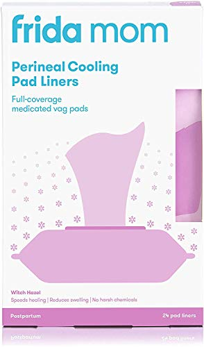 Frida Mom Perineal Medicated Witch Hazel Full-Length Cooling Pad Liners for Postpartum Care   24-Count