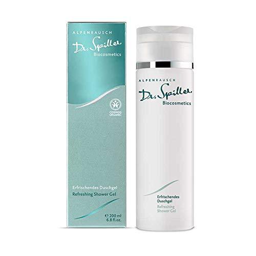Dr. Spiller - Gel de ducha refrescante | para pieles muy sensibles | Estimulador y nutritivo | contra sequedad y sensación de tensión.
