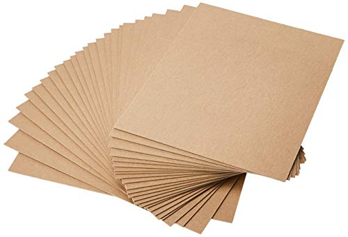 "Grafix Medium Weight 8.5 x 11"", Natural Pack of 25 – Acid-Free 0.057"" Chipboard Sheets, Create Three-Dimensional Embellishments for Cards, Papercrafts, Mixed Media, Home Décor, 25 Count"