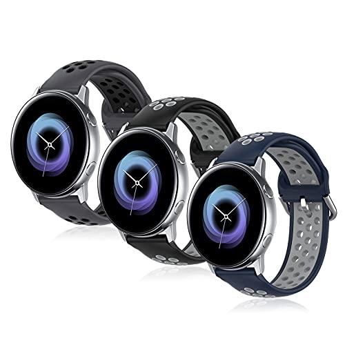 Bandas de repuesto compatibles con Samsung Galaxy Watch Active/Active 2 y Watch 3, 40 mm, 41 mm, 42 mm, 44 mm, Gear S2 Classic/Gear Sports (pinzas para reloj inteligente-20 mm)