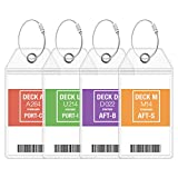 Carnival Luggage Tag Holders by Cruise On - Fits All Carnival Cruise Line Ships...